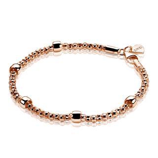 zilveren schakelarmband rosé verguld 19cm ZIA1022R