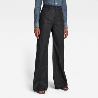 Deck Ultra High Wide Leg Jeans - Wide Fit - Taillehoogte Ultrahoog
