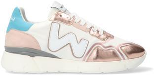 Witte Lage Sneakers Runny