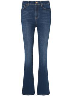 Jeans met wijde pijpen denim