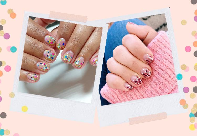DIY: Confetti nail art