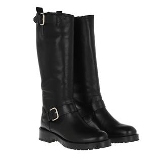Laarzen Ankle Boots Leather Nero in zwart voor dames Gr. 40 (EU)