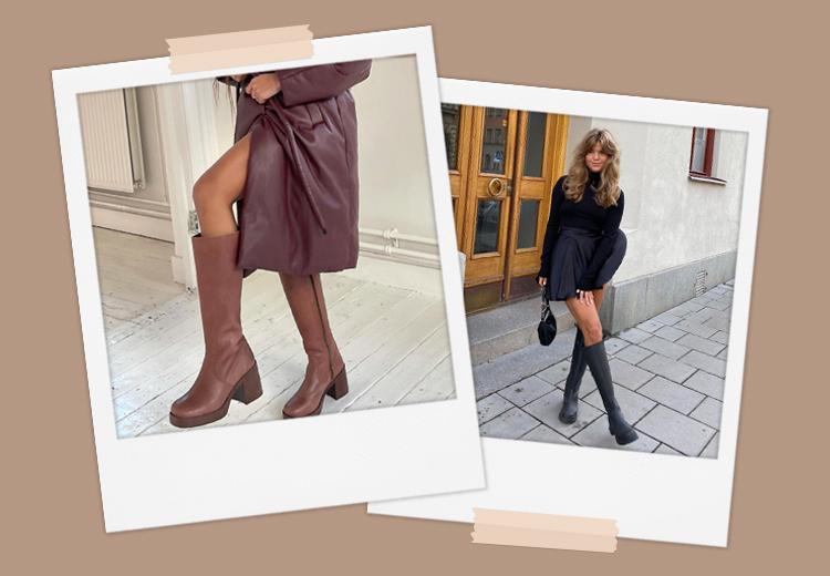 Trend gespot: hoge wijde laarzen