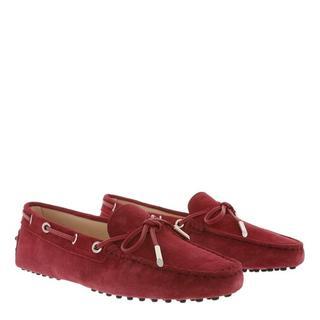 'Tod''s Loafers & ballerina schoenen - Gommino Loafer Suede in red voor dames