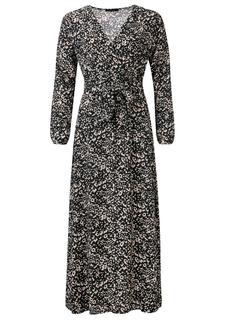 Ariane maxi overslag jurk met strik ceintuur