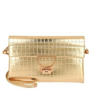 Clutches - Arlettis Croco Clutch in gold voor dames