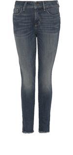 Skinny Ankle in mediumblauw Crosshatch Denim