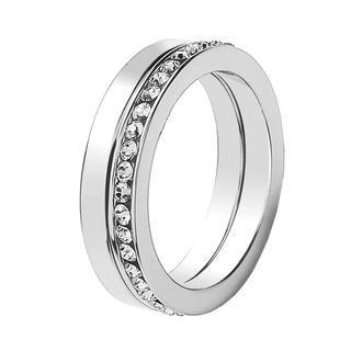 rhodiumplated ring kristal large