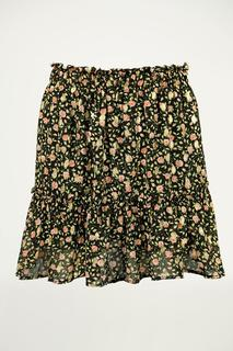 A-lijn rok bloemen & ruffles
