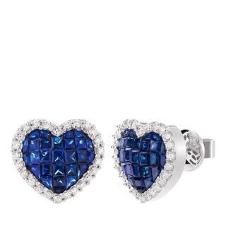 Oorbellen - 2.13 ct. Sapphire and Diamond Stud Earrings in zilver voor dames