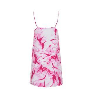tie-dye jurk roze