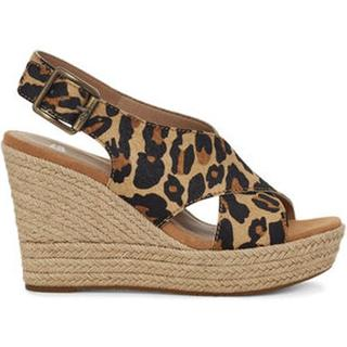 Harlow Leopard Sandalen met Skeehak voor Dames in Leopard Chestnut