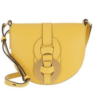 Crossbody bags - Small Darryl Crossbody Bag Calfskin in geel voor dames