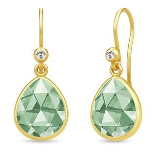 Oorbellen - Aura Earrings in groen voor dames