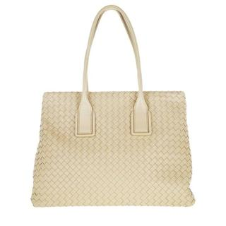 Shoppers - Medium Shopping Bag Leather in beige voor dames