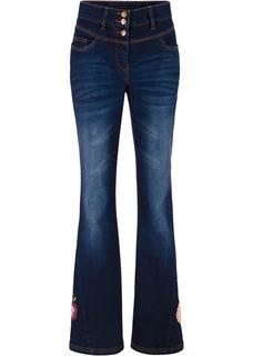 Dames flared jeans in blauw