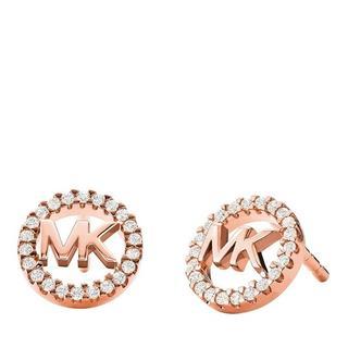 Oorbellen - Sterling Silver Logo Stud Earrings in roze voor dames