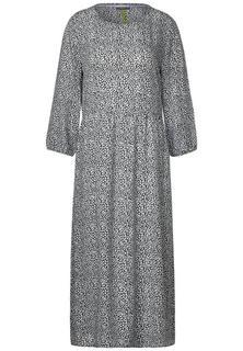 Midi-jurk met patroon