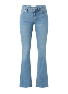 Flare mid waist flared fit jeans met stretch