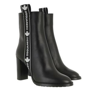 - Logo Band Ankle Boots in zwart voor dames