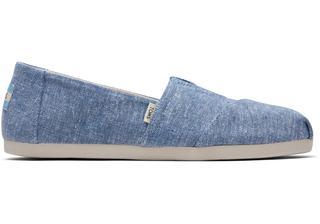 Blauwe Chambray Classics Voor Dames Slip-On Schoenen