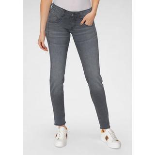 slim fit jeans GILA SLIM DENIM BLACK CASHMERE TOUCH met optische slank makend effect dankzij geer