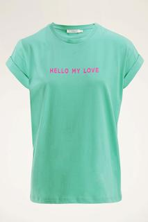 Groen t-shirt have a nice day
