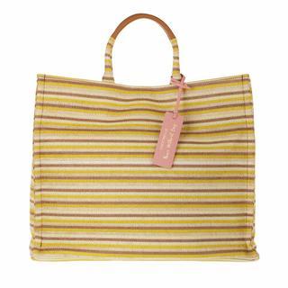 Shoppers - Handbag Woven Paper Fabric in beige voor dames