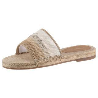slippers TOMMY GRADIENT MULE ESPADRILLE met gestreepte band