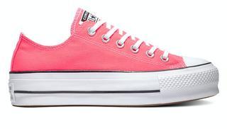 All stars platform 565501c / wit roze