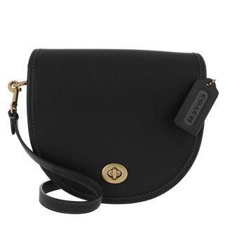 Crossbody bags - Turnlock Saddle Bag in zwart voor dames