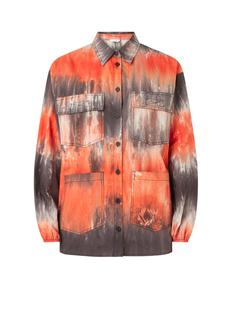 Entopaz cversized blouse met tie-dye dessin