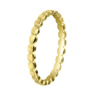 Goldplated ring met bolletjes