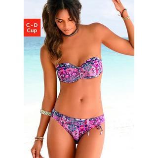 Bandeau-bikinitop Shari met paisleyprint