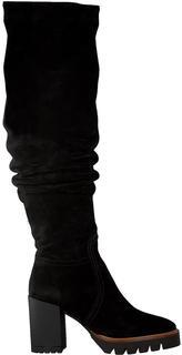 Zwarte Hoge Laarzen B4290