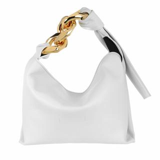 Hobo bags - Small Chain Hobo in white voor dames