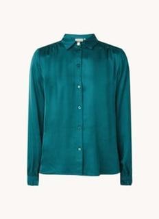 Mira blouse van satijn