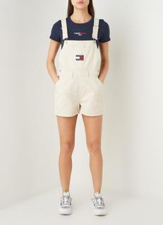 Straight fit korte tuinbroek met logo