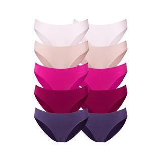 Bikinibroekje in frisse effen kleuren (10 stuks)