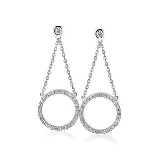 zilveren oorhangers wit ZIO1067