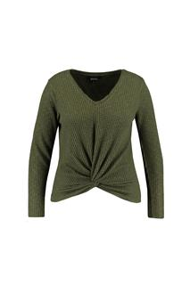 Dames Shirt met knoopdetail Groen