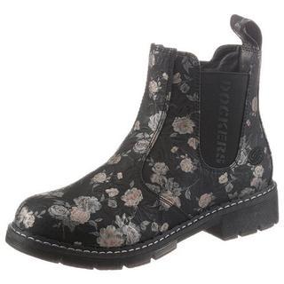Chelsea-boots met gebloemde print