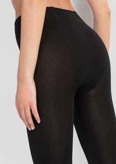 Dames thermische panty in zwart