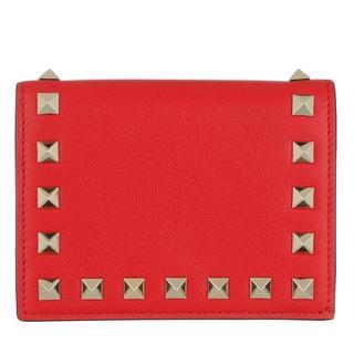 Portemonnees - Rockstud Small Wallet in rood voor dames
