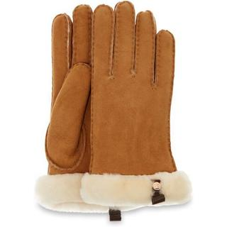 Shorty Glove With Leather Trim Handschoenen voor Dames in Chestnut