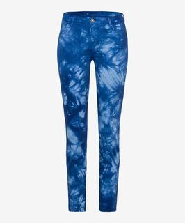 Dames Jeans Style Shakira S, batik dye blue,