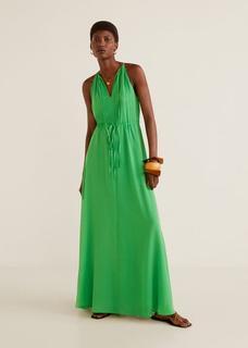 Lange jurk met linten