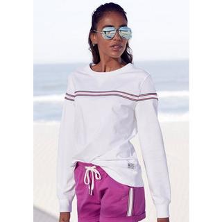 Sweater met contrastkleurige tape