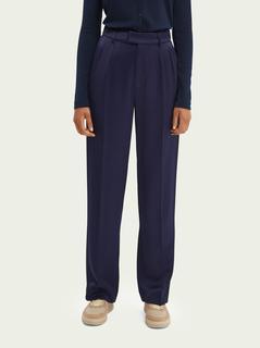 Relaxed-fit mid-rise broek met wijde pijpen