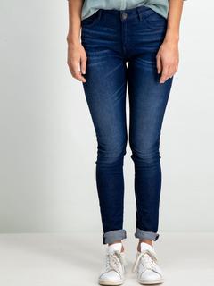 Dames Slim Fit blauw